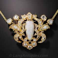 Victorian Opal and Diamond Necklace