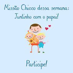 Mamães, já conhecem o instagram da Chicco? ->  @chiccobrasil Siga-nos no instagram e participe das nossas Missões todas as semanas. Essa semana nossa missão é para o Dia dos Pais! Confere lá! <3