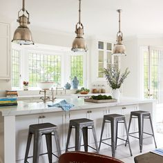 Party-Friendly Kitchen - 5-Star Beach House Kitchens - Coastal Living