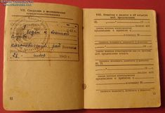 Collect Russia Military Photo ID Card, issued on 9 December 1940 to Anna Vasilyeva, a medical nurse. Soviet Russian 9 December, Military Photos, Red Army, Booklet, Read More, Russia, Anna, Medical, Cards