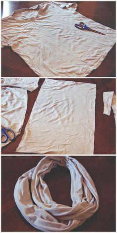 tshirt infinity scarf DIY