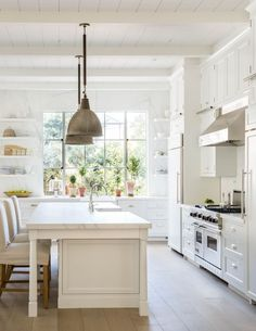 image result for traditional modern farmhouse white light kitchen California renovation Giannetti