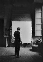 Lucio Fontana, Milano by Ugo Mulas