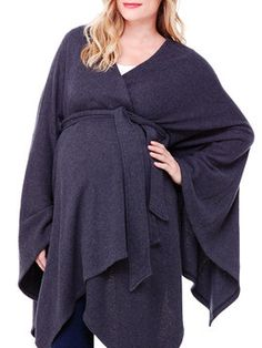 Belted Cozy Wrap by Ingrid & Isabel