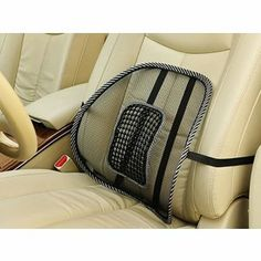 Mesh Back Lumbar Seat Backrests by Mesh Lumbar. $9.99. Can also be used on a office chair as well. Pamper yourself and enjoy the benefits of the comfort and support that this Mesh Back Lumbar Car Seat Backrest provides. The support system is created with your comfort in mind allowing you to keep good posture in your vehicle or even at home or work. The backrest matches any car interior or chair and the light material allows cool airflow for comfort and ease. Features: Prov...