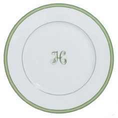everyday dinnerware?? Raynaud Monogram - comes in blue and pink as well