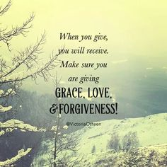 Grace, love, forgiveness