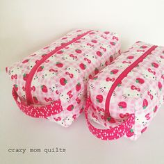crazy mom quilts: a pair of boxy pouches