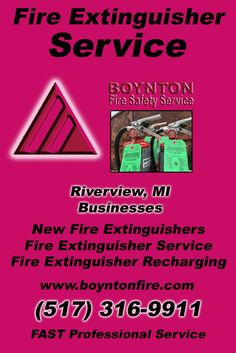 Fire Extinguisher Service Riverview (517) 316-9911Discover the Complete Source for Fire Protection Equipment and Service.. We're Boynton Fire Safety Service!! Call us Today!