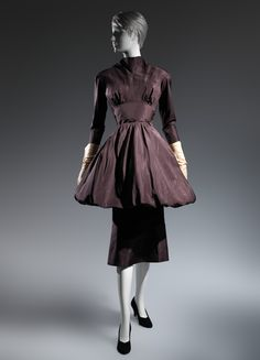 Charles James (American, born Great Britain, 1906–1978). Ensemble, 1954. The Metropolitan Museum of Art, New York. Purchase, Costume Institute Benefit Fund, Friends of The Costume Institute Gifts, and Acquisitions Fund, 2013 (2013.337a, b) #CharlesJames