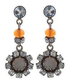 Ohrringe mit Stecker von Konplott -Earth and Glamour-Antik.silber.Größe:3 cm.Ref.5450543311135