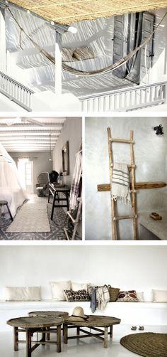 Hotel San Giorgio Mykonos moodboard, bohemian chic