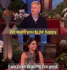 ❤ Even though I don't like Ellen Selena is funny