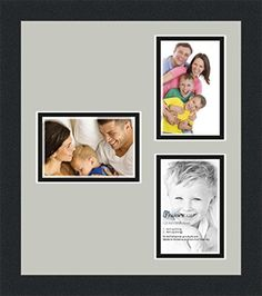 art to frames collage photo frame double mat with 3 openings and satin black frame click image to review more details