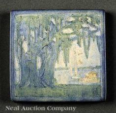 Newcomb College Art Pottery Matte Glaze Tile