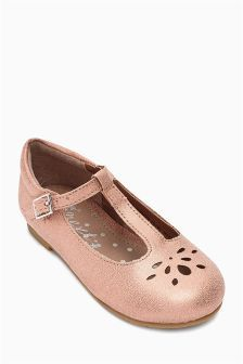 Pink T-Bar Shoes (Younger Girls)