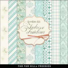 Far Far Hill - Free database of digital illustrations and papers: New Freebies Kit of Backgrounds - Tendresse Fraîch...