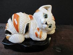 Artesania Rinconada Calico Cat figure on wood by KLBVintageWares