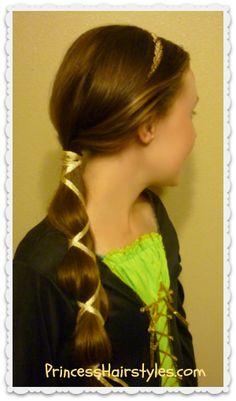 Disney's #Brave inspired hair tutorial, Queen Elinor. #Halloween