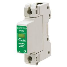 A1SPM/NE/40/230 - 40kA N/E Module in Base (w/o Remote Connector) - Type 2 Test Class II - This modular #surgeprotection #device provides #protection of equipment connected to incoming low voltage AC power supplies against the damaging effects of transient over voltages caused by local #lightning strikes, or the switching of electrical inductive or capacitive loads.