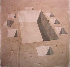Los Carpinteros (Marco Castillo, Dagoberto Garcia y Alexandre Arrechea), Parapeto para Juego de Comedor, 2003, acuarela en papel, 205 x 204 cm.