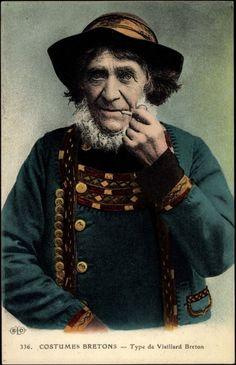 Type de Vieillard Breton, Pfeife rauchen
