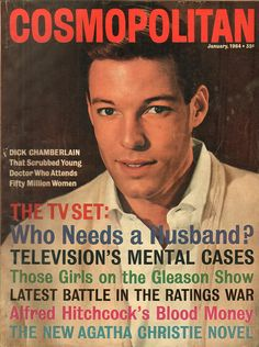 January 1964 cover with Dick Chamberlin Movie Magazine, Life Magazine, Magazine Stand, Magazine Covers, Richard Chamberlain, Popular Magazine, Cosmopolitan Magazine, News Magazines, Vintage Magazines