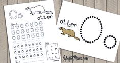 KraftiMama Free Printables, Afrkaans Alfabet, O, Otter Grade R Worksheets, Alphabet Worksheets, Alphabet Activities, Preschool Worksheets, Printable Alphabet Letters, Alphabet For Kids, Teaching Activities, Preschool Learning, Preschool Ideas