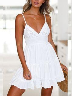 0b992c33a Las 40 mejores imágenes de Vestidos blancos encaje en 2019