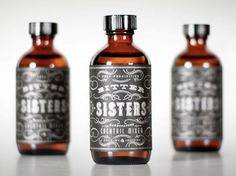"Bitter Sisters Cocktail Mixer  ""The guys at Single Brothers Bar concocted a bitters so tasty, they had to bottle it. A brown medicine bottle was chosen, tipping a hat to the fact that bitters were originally sipped as a health tonic in the 1800's."