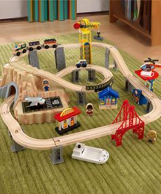 What a great deal!  Under $40!  Perfect for Toby for #Christmas.  Train Play Set by KidKraft on #zulily today!