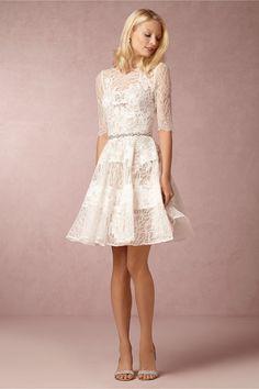 BHLDN Barletta little white dress.