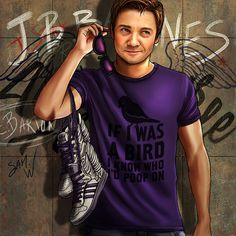 """The Avengers and Their Favorite T-Shirts Series: Clint Barton - Deviant Artist """"Petite-Madame"""""""