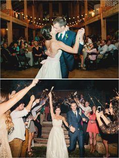 wedding dance and sparkler exit  #sparklers #tennesseewedding #weddingchicks http://www.weddingchicks.com/2013/12/27/family-affair-wedding/