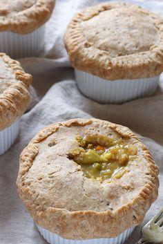 Veggie loaded vegan pot pies with a spelt coconut oil crust