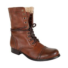 Also love: Steve Madden Hoodlum boots. Steve Madden Boots, Madden Shoes, What I Wore, What To Wear, Flat Booties, Black Combat Boots, Calf Boots, Classy And Fabulous, Lace Up Boots