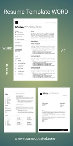 resume template word – Resume Updated