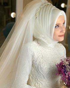 Image may contain: 1 person, wedding Muslim Wedding Dresses, Muslim Brides, Wedding Hijab, Bridesmaid Dresses, Muslim Couples, Dress Wedding, Muslim Fashion, Hijab Fashion, Fashion Dresses