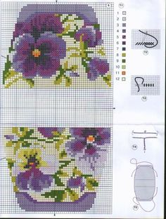 pochette n° 1 Hand Embroidery Patterns Free, Cross Stitch Patterns, Cross Stitches, Crazy Mom, Tapestry Crochet, Cross Stitch Flowers, Le Point, Pin Cushions, Blackwork