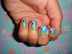 #aioutlet This would be cute to have done if we get to go. Nail art, Aruba's flag