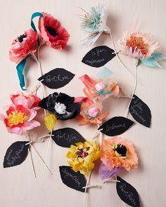 DIY Paper Flower Name Tags