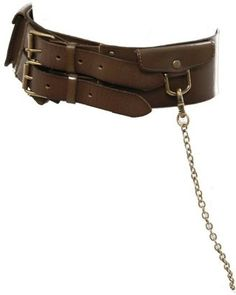 ShopStyle: Linea Pelle Military Waist Belt W/ Chain