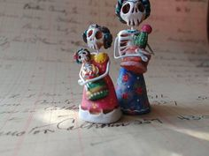 Day of the Dead matchbox shrine figure Nina with her Frida