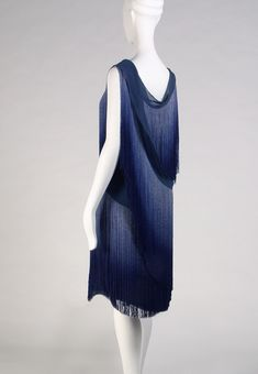 Evening dress with ombred silk fringe, Coco Chanel, 1926