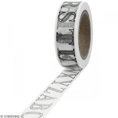 Masking tape Letras alfabeto para colorear - 15 mm x 10 m - Fotografía n°1