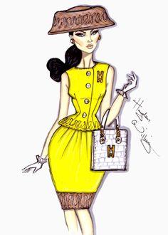 #Hayden Williams Fashion Illustrations: #'Uptown Girl' by Hayden Williams