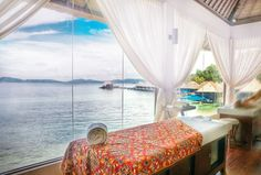Get a relaxing message at the #Gayana Eco Resort - a 5***** luxury resort on Gaya Island in Malaysia off the coast of Kota Kinabalu #Borneo