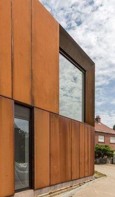 NT House, Duisburg, Tervuren, Belgium - Bruno Vanbesien Architects. I like the Corten steel clad exterior to this building!