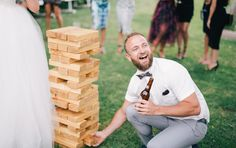 Giant jenga is a game the whole family will have fun playing after the ceremony | The Wedding Notebook July 2015