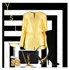 """Black and gold for a party"" by parisian-girl on Polyvore"